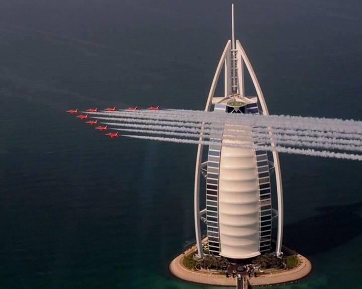Burj Al Arab  view with Air Show